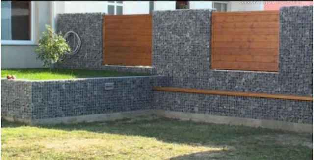 29 Fabulous Gabion Fence Design for Garden Landscaping Ideas