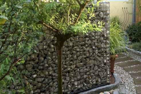 30 Fabulous Gabion Fence Design for Garden Landscaping Ideas