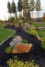 36 Awesome Front Yard Rock Garden Landscaping Ideas
