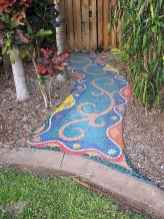 37 Beautiful DIY Mosaic Garden Path Decorations For Your Landscape Inspiration