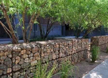 37 Fabulous Gabion Fence Design for Garden Landscaping Ideas