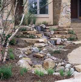 38 Unique Backyard Garden Water Feature Landscaping Ideas