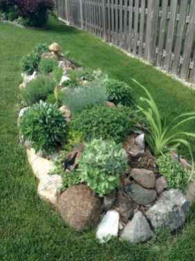 39 Awesome Front Yard Rock Garden Landscaping Ideas