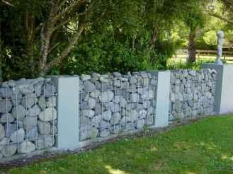 40 Fabulous Gabion Fence Design for Garden Landscaping Ideas
