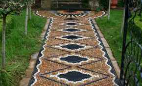 41 Beautiful DIY Mosaic Garden Path Decorations For Your Landscape Inspiration