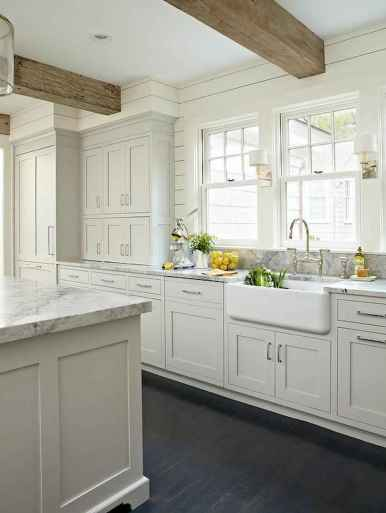 41 Incredible Farmhouse Gray Kitchen Cabinet Design Ideas
