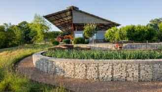 42 Fabulous Gabion Fence Design for Garden Landscaping Ideas