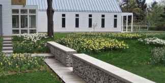 44 Fabulous Gabion Fence Design for Garden Landscaping Ideas