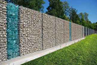 46 Fabulous Gabion Fence Design for Garden Landscaping Ideas