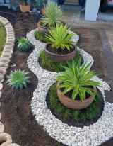 47 Awesome Front Yard Rock Garden Landscaping Ideas