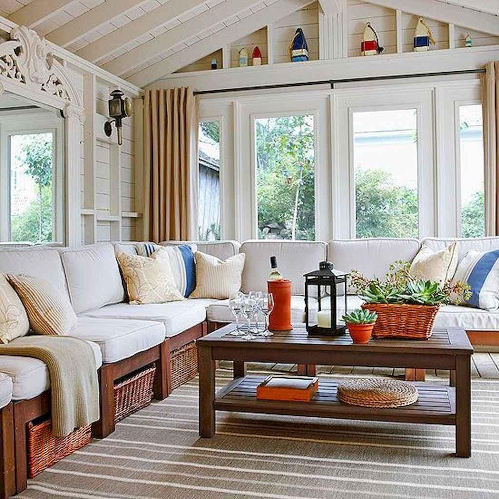 47 Cozy Farmhouse Sunroom Decor Ideas