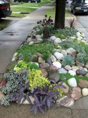 50 Awesome Front Yard Rock Garden Landscaping Ideas