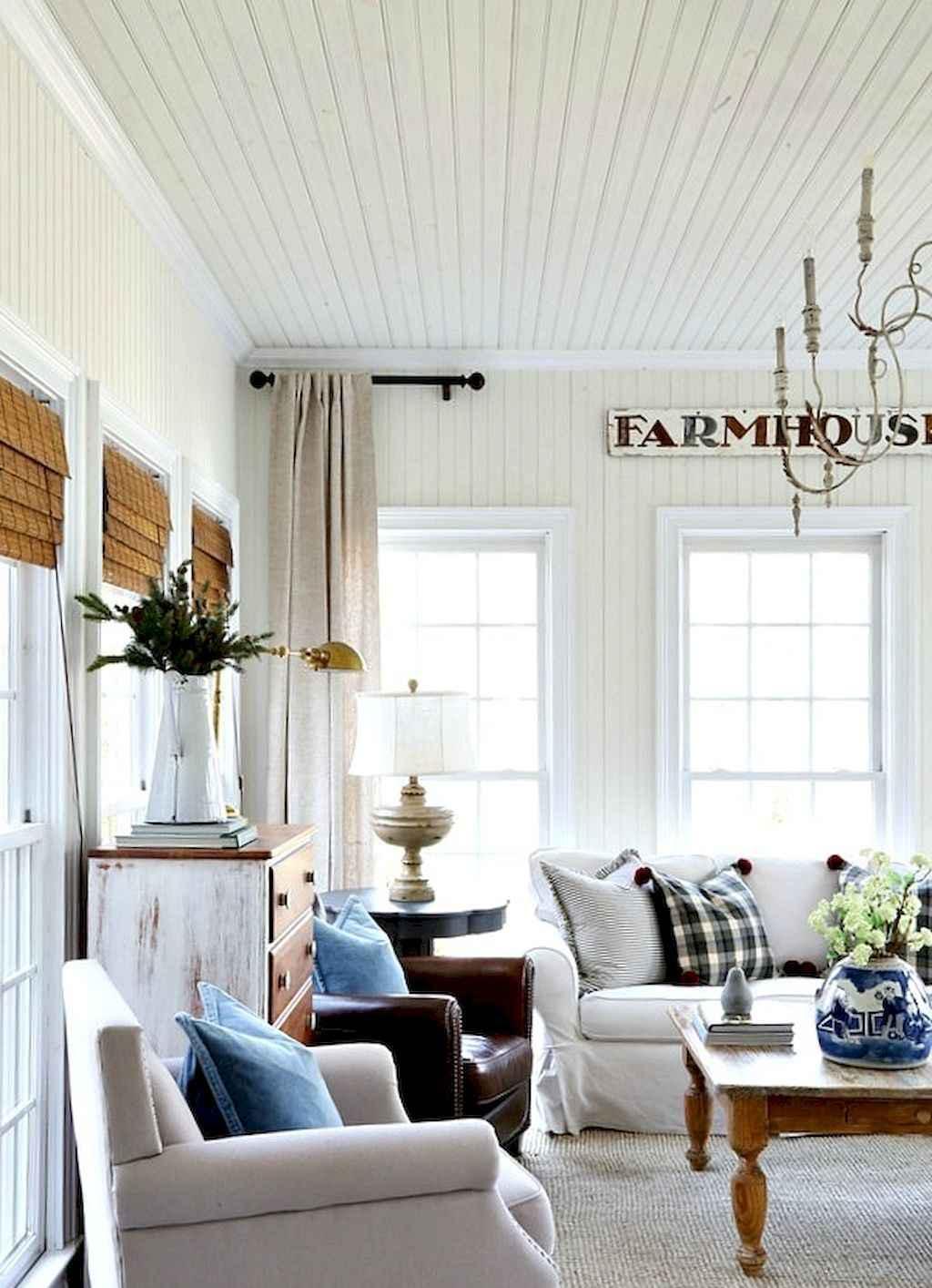 50 Cozy Farmhouse Sunroom Decor Ideas