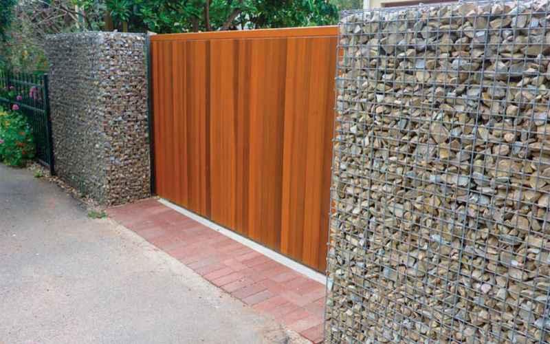 50 Fabulous Gabion Fence Design for Garden Landscaping Ideas