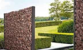 52 Fabulous Gabion Fence Design for Garden Landscaping Ideas