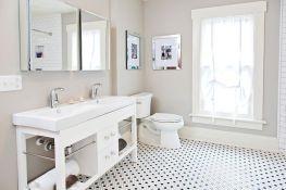 55 Awesome Farmhouse Bathroom Tile Floor Decor Ideas