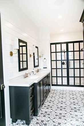 56 Awesome Farmhouse Bathroom Tile Floor Decor Ideas