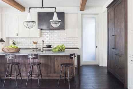56 Incredible Farmhouse Gray Kitchen Cabinet Design Ideas