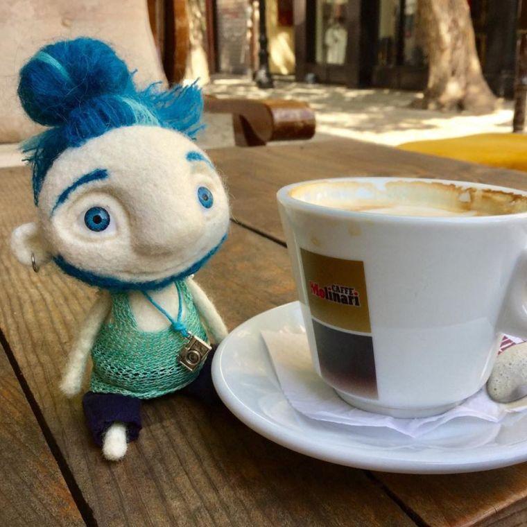 Yaroslava Bykova coffee man