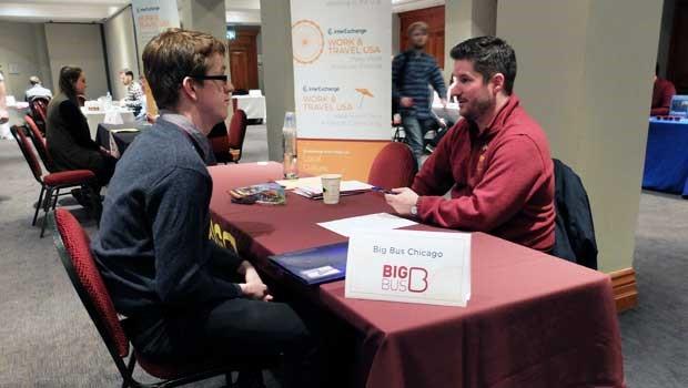 job fair face to face interview