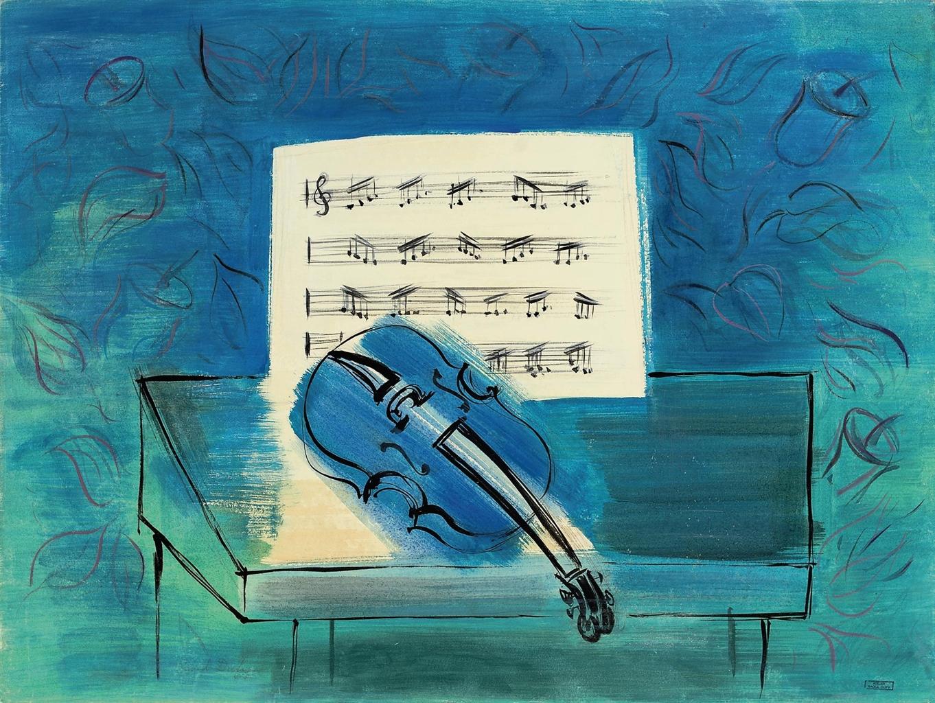 Raoul-Dufy-le-violon-bleu-insight-coaching-art, musique, violon, music