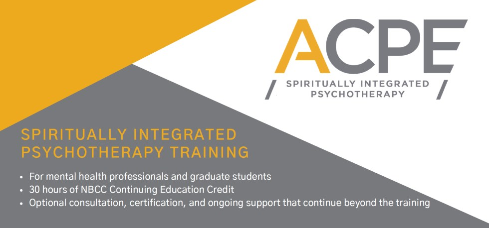 ACPE Spiritually Integrated Psychotherapy Training Program at Insight Counseling Centers