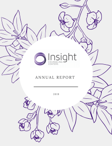2019 Annual Report - Insight Counseling Centers