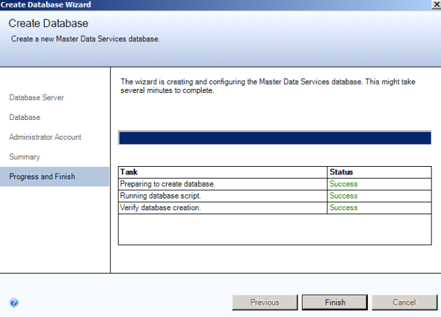 SQL Server 2012 Master Data Services MDS successfully installed