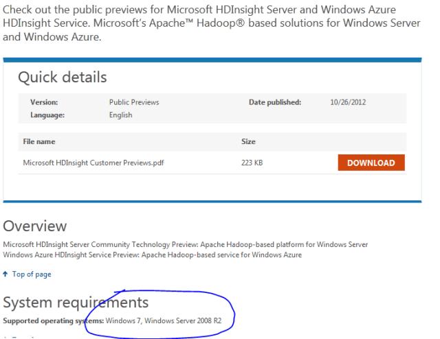 download hadoop on windows machine hdinsight