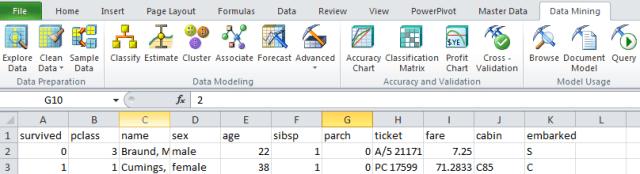 excel sql server data mining tab enabled yay