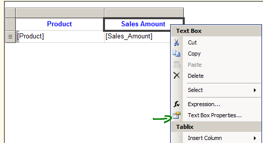 ssrs interactive sorting column reporting