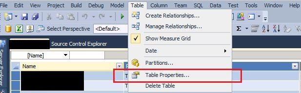 SSAS Tabular Model: How to change the query used for tables