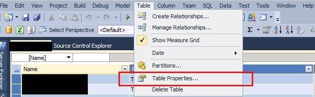 SSAS Tabular model change query