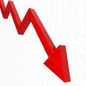 downward trend line chart