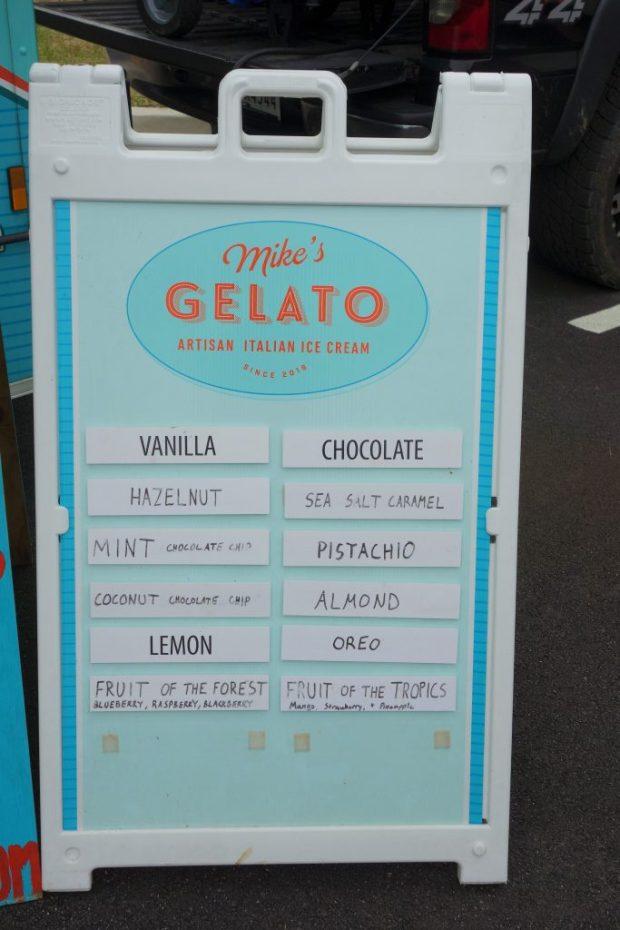Mike's Gelato flavors