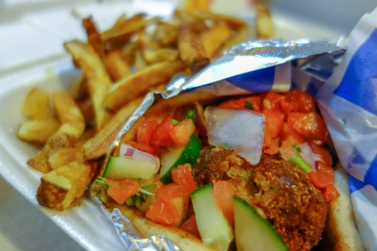 Falafel Pita from Greek on the Street