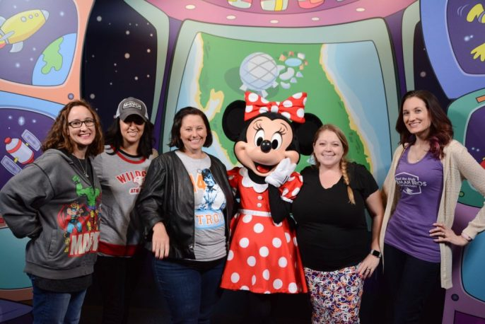 FLOCK Presents attendees hanging out with Minnie #rockthedots
