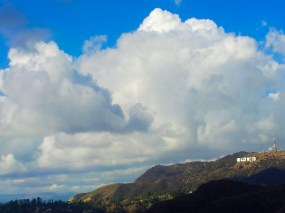 Hollywood sign from Griffith Observatory 1