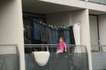 This girl lives in one of more than 1500 apartments in Gellerupparken. Lifestyle in this area of Aarhus is not the same as it is in other parts of Aarhus. People live here in a balance in between their culture and Danish society.