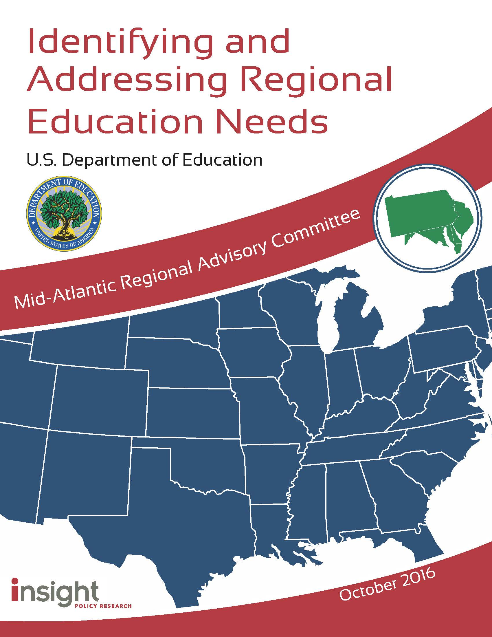 The Mid Atlantic Region A Report Identifying And