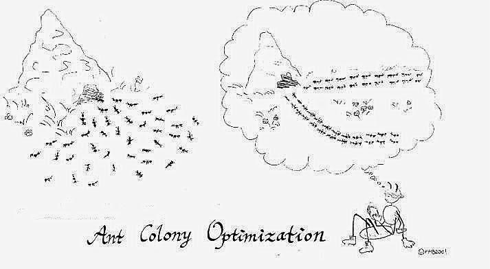 Solution to quadratic assignment problems (QAP) using Ant