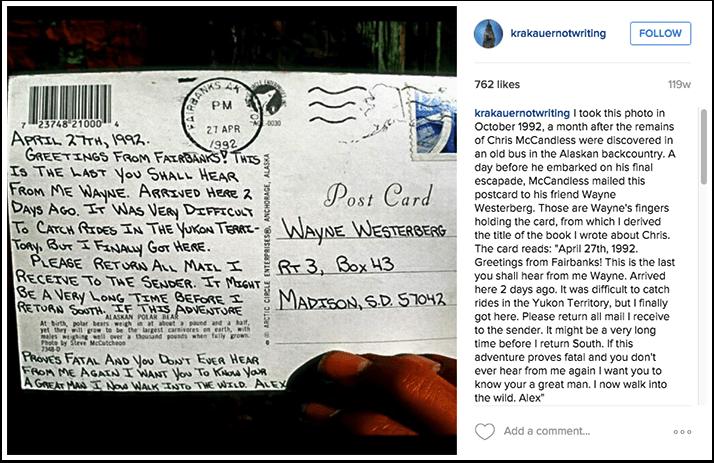 Jon Krakauer Instagram