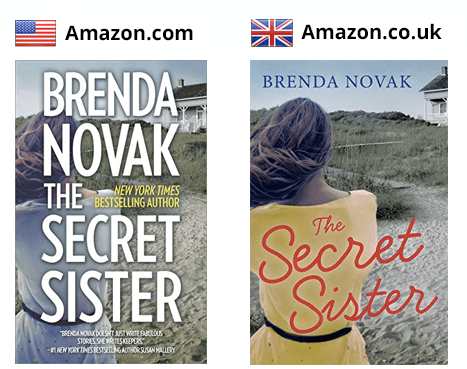 Brenda Novak's cover designs in the US and UK
