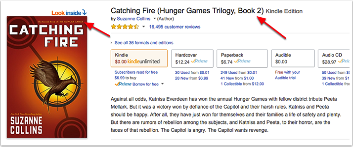 Hunger Games Catching Fire Product Page