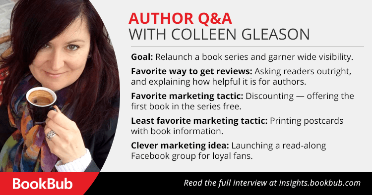 BookBub Interview with Colleen Gleason