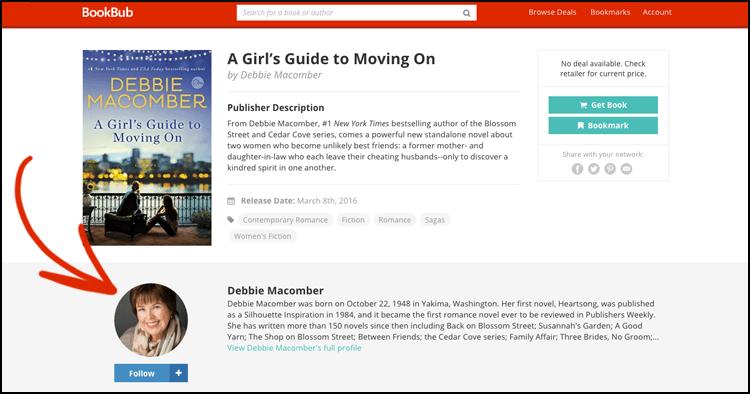 BookBub Author Profile - New Features