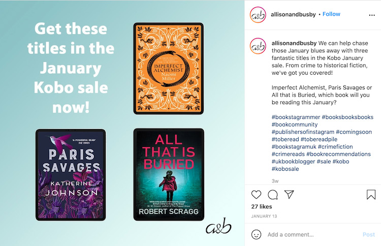 Book Deals Instagram