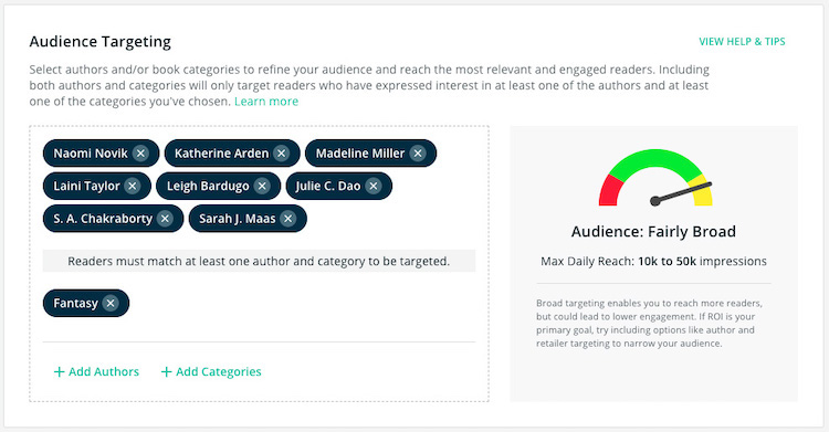 BookBub Ads Audience Targeting