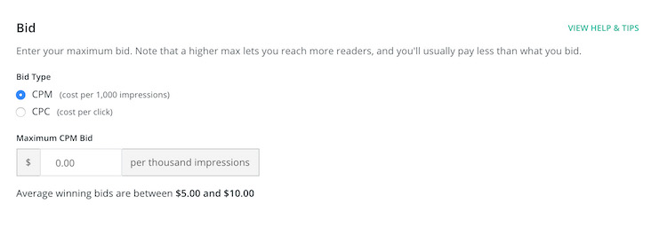 BookBub Ads - Bid Suggestion