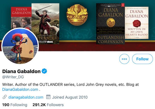 Diana Gabaldon Twitter Header